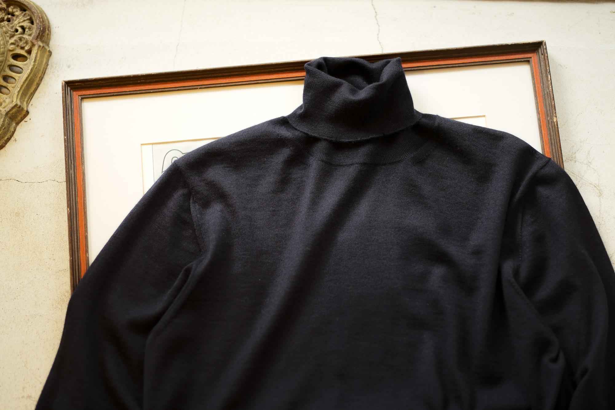 Cruciani (クルチアーニ) Silk Cashmere Turtle Neck Sweater (シルクカシミヤ タートルネック セーター) NAVY (ネイビー・5508D) made in italy (イタリア製) 2019 秋冬新作 愛知 名古屋 altoediritto アルトエデリット