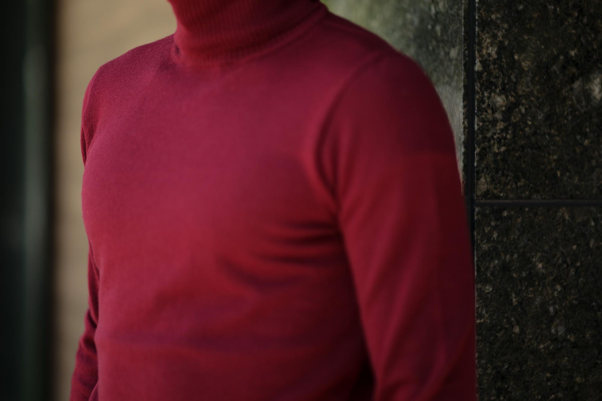 Cuervo (クエルボ) Sartoria Collection (サルトリア コレクション) John(ジョン) Turtle Neck Sweater (タートルネックセーター) ウールニット セーター BORDEAUX (ボルドー) MADE IN JAPAN (日本製) 2019 秋冬 【ご予約受付中】愛知 名古屋 altoediritto アルトエデリット