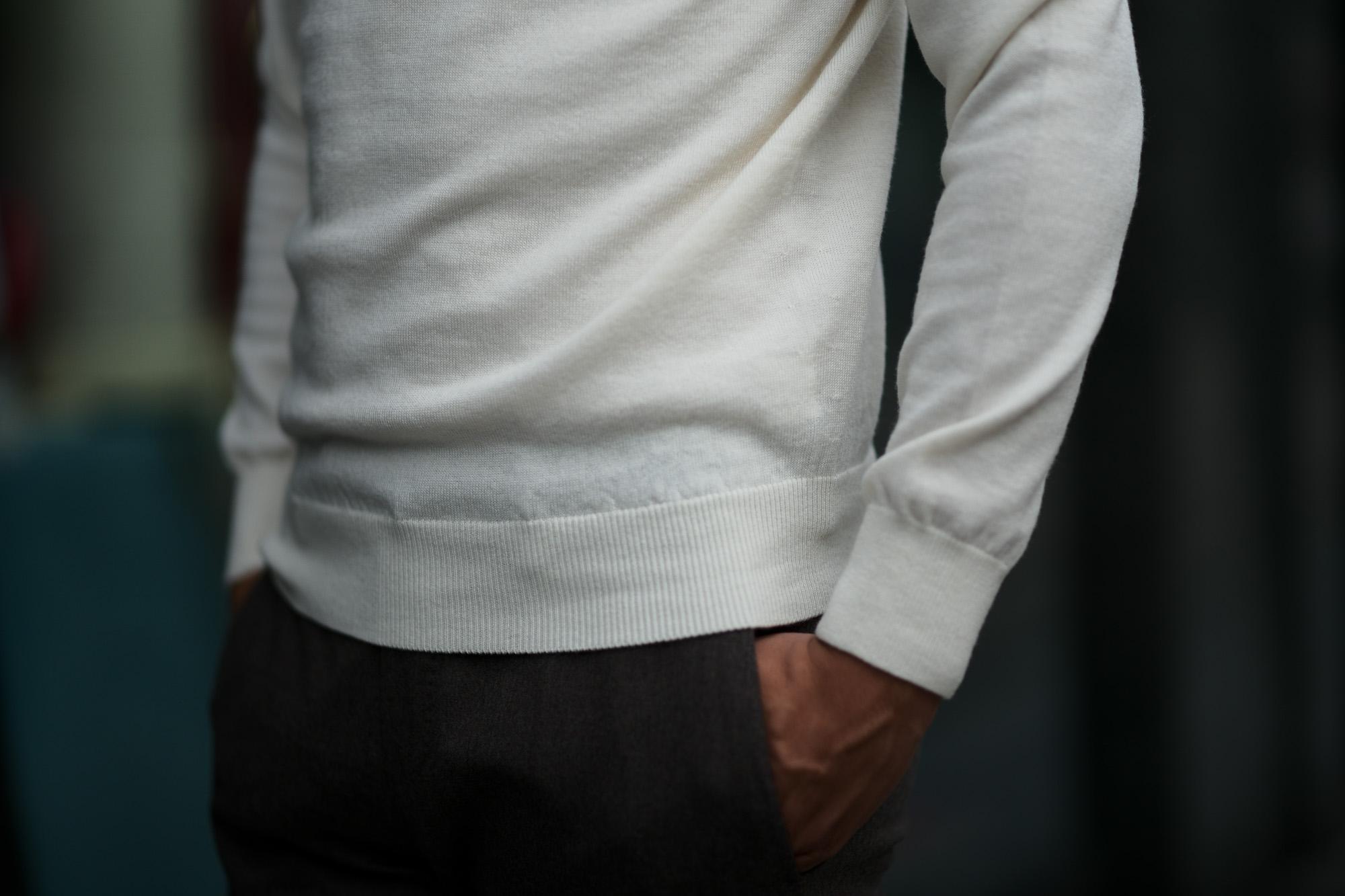 Cuervo (クエルボ) Sartoria Collection (サルトリア コレクション) John(ジョン) Turtle Neck Sweater (タートルネックセーター) ウールニット セーター WHITE (ホワイト) MADE IN JAPAN (日本製) 2019 秋冬 【ご予約受付中】愛知 名古屋 altoediritto アルトエデリット