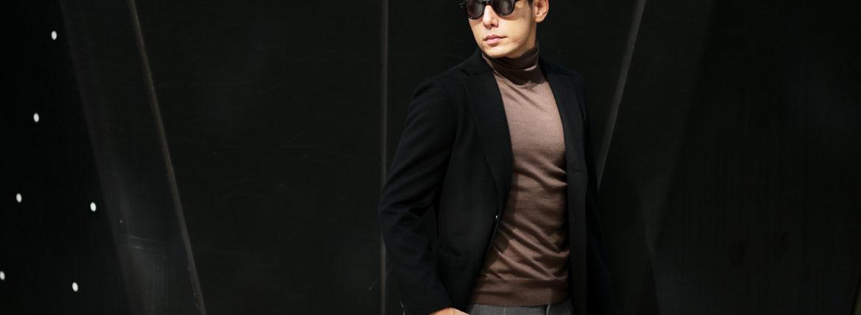 Cuervo (クエルボ) Sartoria Collection (サルトリア コレクション) Lobb (ロブ) Cashmere カシミア 3B ジャケット BLACK (ブラック) MADE IN JAPAN (日本製) 2019 秋冬 【ご予約受付中】 のイメージ