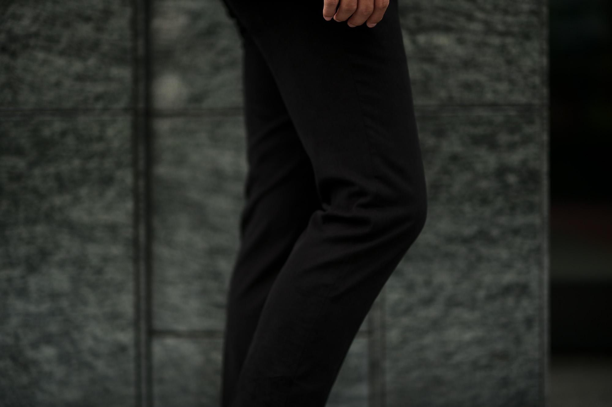 Cuervo (クエルボ) Sartoria Collection (サルトリア コレクション) Rooster (ルースター) STRETCH COTTON ストレッチコットン スーツ BLACK (ブラック) MADE IN JAPAN (日本製) 2019 秋冬新作 【ご予約受付中】alto e diritto アルトエデリット
