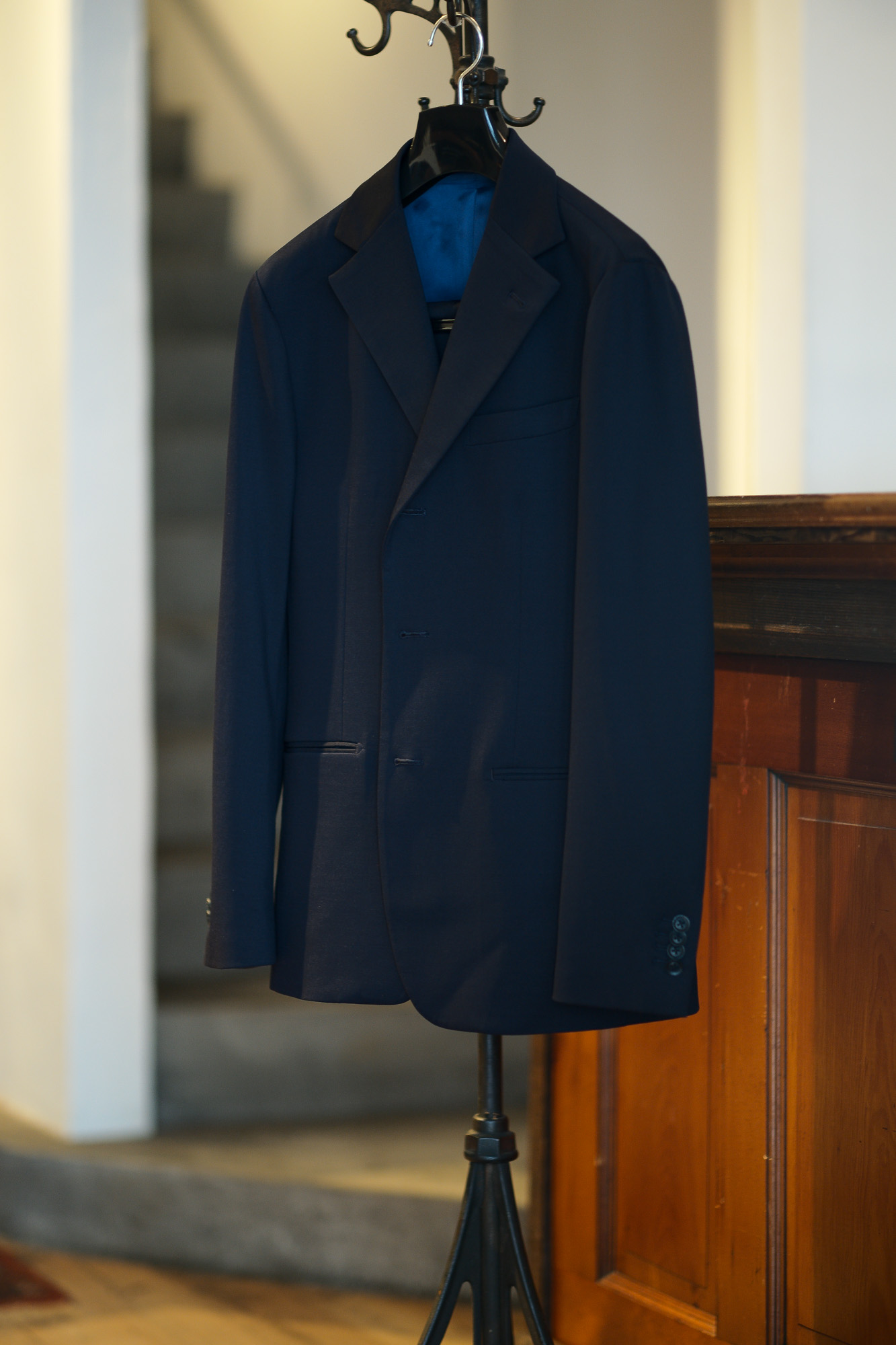 Cuervo (クエルボ) Sartoria Collection (サルトリア コレクション) Rooster (ルースター) Stretch Jersey  ストレッチ ジャージ スーツ NAVY (ネイビー) MADE IN JAPAN (日本製) 2019 秋冬【オーダー分入荷】愛知 名古屋 alto e diritto アルトエデリット