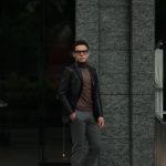Cuervo (クエルボ) Satisfaction Leather Collection (サティスファクション レザー コレクション) LEON (レオン) BUFFALO LEATHER (バッファロー レザー) シングル テーラード ジャケット BLACK (ブラック) MADE IN JAPAN (日本製) 2019 秋冬新作のイメージ