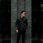 Cuervo (クエルボ) Satisfaction Leather Collection (サティスファクション レザー コレクション) TOM (トム) BUFFALO LEATHER (バッファロー レザー) シングル ライダース ジャケット BLACK (ブラック) MADE IN JAPAN (日本製) 2020【第3便ご予約開始】のイメージ