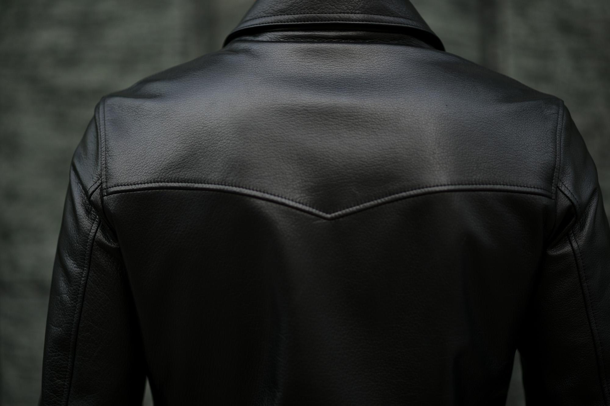 Cuervo (クエルボ) Satisfaction Leather Collection (サティスファクション レザー コレクション) TOM (トム) BUFFALO LEATHER (バッファロー レザー) シングル ライダース ジャケット BLACK (ブラック) MADE IN JAPAN (日本製) 2019 秋冬新作 クエルボ レザージャケット 愛知 名古屋 alto e diritto アルトエデリット セレクトショップ