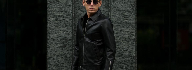 Cuervo (クエルボ) Satisfaction Leather Collection (サティスファクション レザー コレクション) TOM (トム) BUFFALO LEATHER (バッファロー レザー) シングル ライダース ジャケット BLACK (ブラック) MADE IN JAPAN (日本製) 2020【第3便ご予約受付中のイメージ
