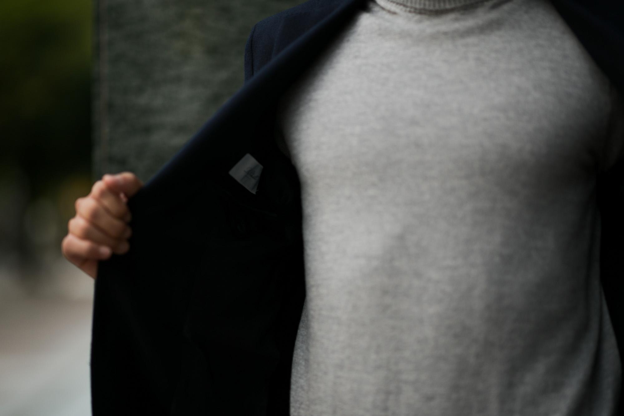 De Petrillo (デ ペトリロ) NAPOLI Posillipo (ナポリ ポジリポ) カシミア モールスキン 段返り3B ジャケット NAVY (ネイビー・359) Made in italy (イタリア製) 2019 秋冬新作 depetrillo デペトリロ 愛知 名古屋 altoediritto アルトエデリット