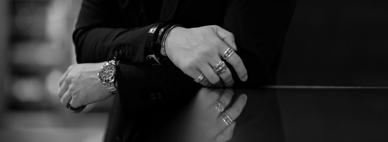 FIXER(フィクサー) CROCODILE LEATHER BRACELET 925 STERLING SILVER(925 スターリングシルバー) クロコダイル レザー ブレスレット BLACK (ブラック) 【ご予約開始】のイメージ
