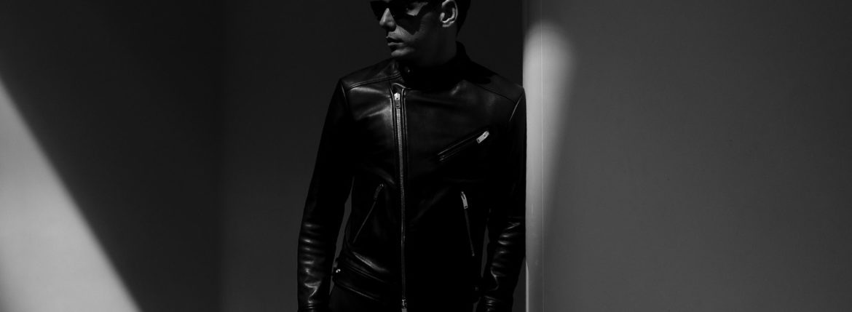 FIXER(フィクサー) F1(エフワン) DOUBLE RIDERS Cow Leather ダブルライダース ジャケット BLACK(ブラック)【ご予約開始】【2019.9.14(Sat)-9.29(sun)】のイメージ