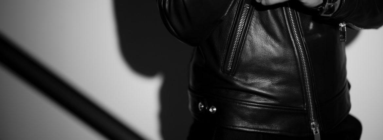 FIXER(フィクサー) F1(エフワン) DOUBLE RIDERS Cow Leather ダブルライダース ジャケット BLACK(ブラック)【ご予約受付中】【2019.9.14(Sat)-9.29(sun)】のイメージ