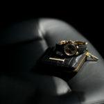 """Georges de Patricia """"Phantom Crocodile 18K GOLD"""" × ROLEX """"COSMOGRAPH DAYTONA 116518LN"""" ジョルジュドパトリシア ファントム クロコダイル 18K ゴールド ニロティカス クロコダイル エキゾチックレザー ショート ウォレット ブラック 2019新作 ロレックス デイトナ ラバー シャンパン ブラック YG イエローゴールド"""