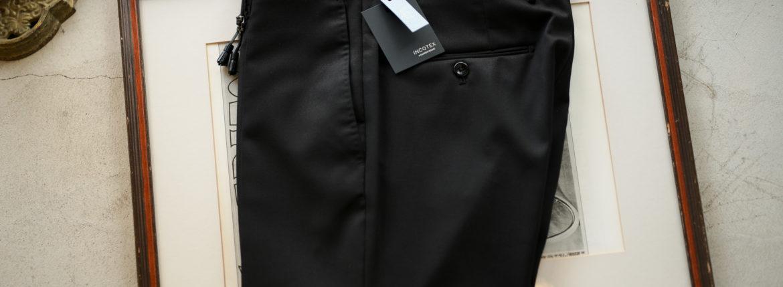 INCOTEX (インコテックス) N35 SLIM FIT (1NT035) TECHNO FLANNEL URBAN TRAVELLER (テクノ フランネル アーバン トラベラー) ストレッチ ウォッシャブル フランネル ウール スラックス BLACK (ブラック・990) 2019 秋冬新作 愛知 名古屋 altoediritto アルトエデリット