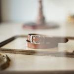 J&M DAVIDSON (ジェイアンドエムデヴィッドソン) HARNESS BUCKLE 25MM (ハーネス バックル ベルト 25MM) BRIDLE LEATHER (ブライドルレザー) ナローベルト TAN (タン・290) Made in England (英国製) 2019 秋冬新作のイメージ