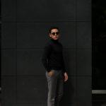 LAMBERTO LOSANI (ランベルト ロザーニ) Silk Cashmere Turtle Neck Sweater(シルクカシミア タートルネック セーター) ハイゲージ シルクカシミヤニット セーター BLACK (ブラック・901) made in italy (イタリア製) 2019 秋冬新作のイメージ