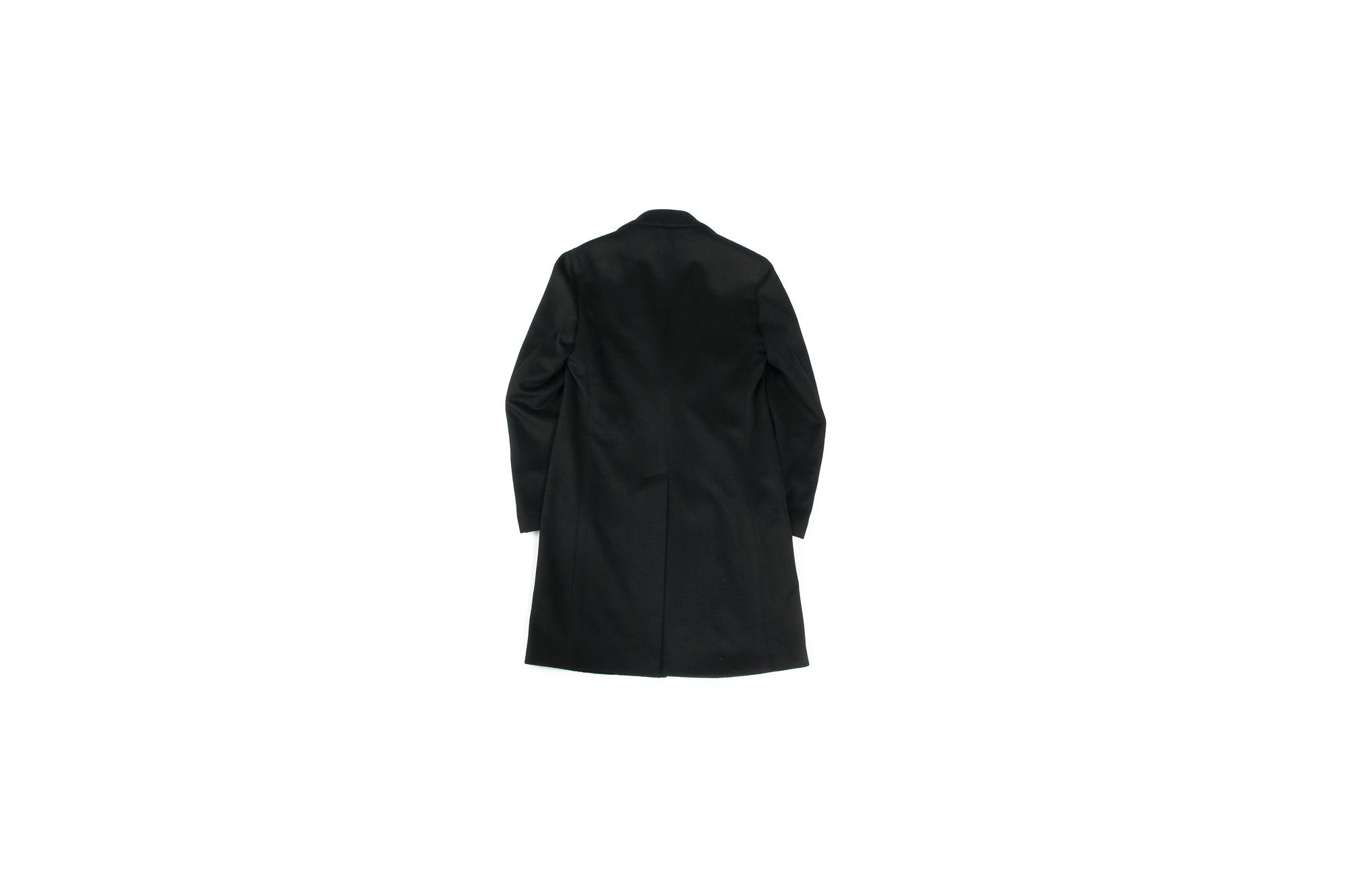 LARDINI (ラルディーニ) Cashmere Spolverino Chester coat (カシミヤ スポルベリーノ チェスターコート) カシミヤフラノ生地 シングル チェスターコート BLACK (ブラック・4) Made in italy (イタリア製) 2019 秋冬新作 愛知 名古屋 Altoediritto アルトエデリット コート ロングコート