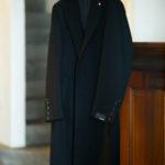 LARDINI (ラルディーニ) Spolverino Chester coat (スポルベリーノ チェスターコート) フラノウール生地 シングル チェスターコート BLACK (ブラック・4) Made in italy (イタリア製) 2019 秋冬新作 【入荷しました】【フリー分発売開始】のイメージ