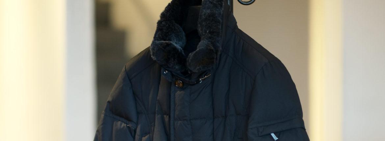 MOORER (ムーレー)MORRIS-KM2 (モーリス) ホワイトグースダウン ナイロン ダブルブレスト ダウン コート NERO(ブラック)  Made in italy (イタリア製) 2019 秋冬新作 【入荷しました】【フリー分発売開始】のイメージ