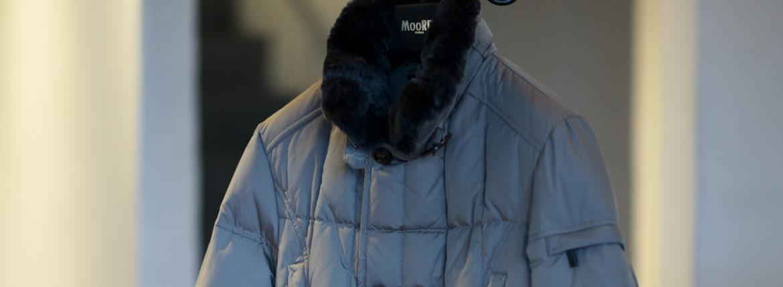MOORER (ムーレー)MORRIS-KM2 (モーリス) ホワイトグースダウン ナイロン ダブルブレスト ダウン コート VISONE(ベージュ)  Made in italy (イタリア製) 2019 秋冬新作 【入荷しました】【フリー分発売開始】のイメージ