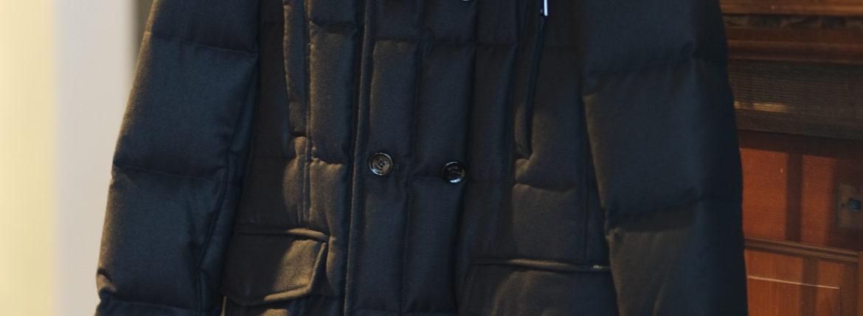MOORER (ムーレー)MORRIS-L (モーリス) LoroPiana (ロロピアーナ) ウールカシミア ダブルブレスト ダウン コート NERO(ブラック・08) Made in italy (イタリア製) 2019 秋冬新作【入荷しました】【フリー分発売開始】のイメージ