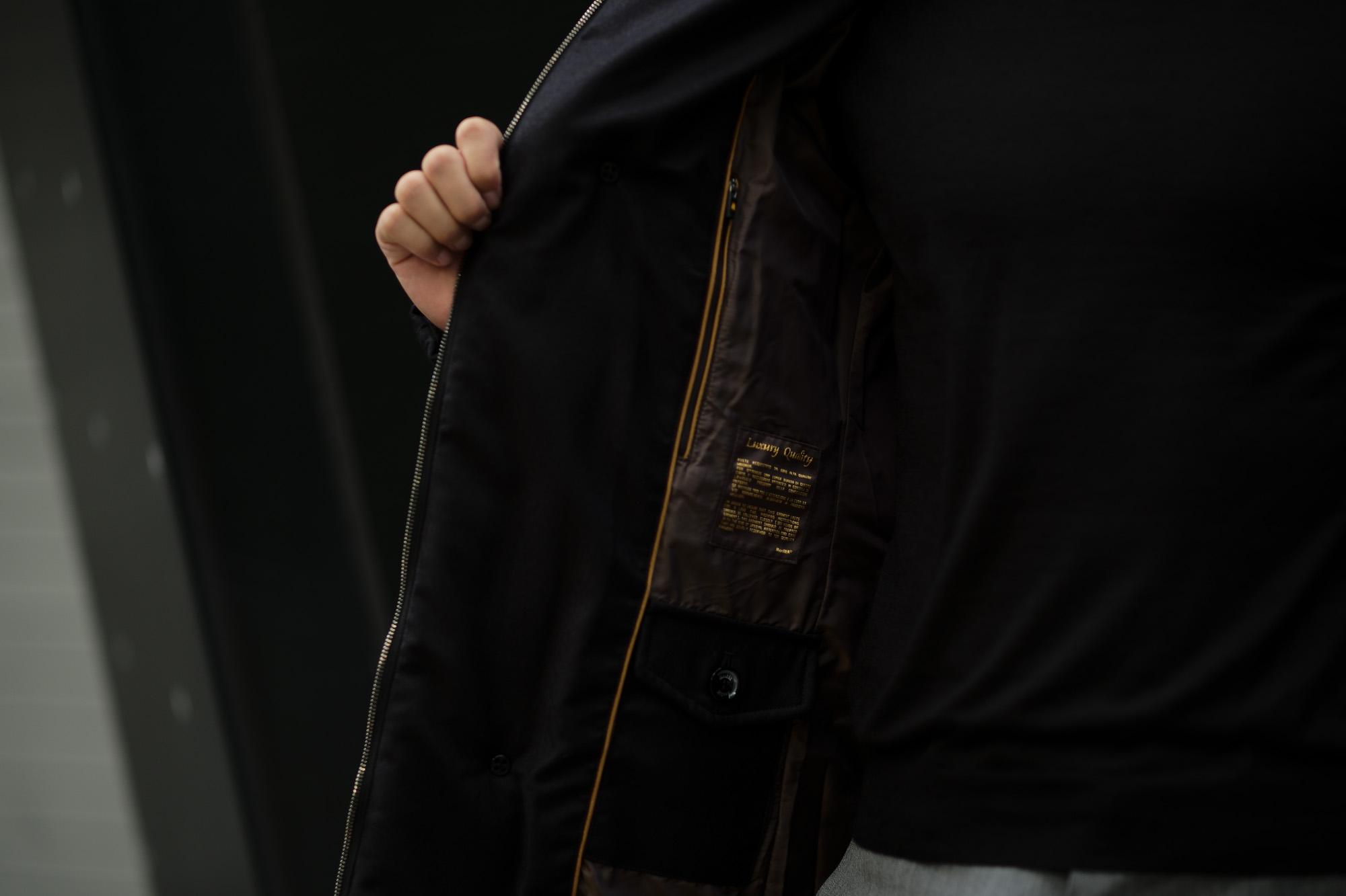 MOORER (ムーレー)MORRIS-L (モーリス) LoroPiana (ロロピアーナ) ウールカシミア ダブルブレスト ダウン コート NERO(ブラック・08) Made in italy (イタリア製) 2019 秋冬新作 愛知 名古屋 altoediritto アルトエデリット