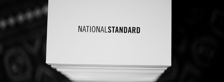 NATIONAL STANDARD (ナショナルスタンダード) EDITION 3 NOIRE MONOCHROME ALL OVER BLACK (M03-19F-095) レザースニーカー BLACK (ブラック・095) 2019 秋冬新作 愛知 名古屋 altoediritto アルトエデリット nationalstandard 黒スニーカー