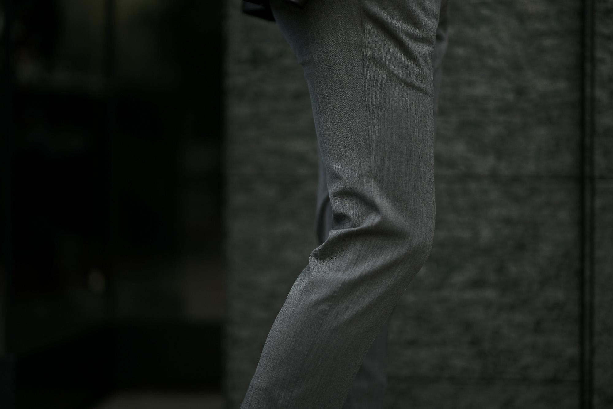 PT01 (ピーティーゼロウーノ) TRAVELLER (トラベラー) SUPER SLIM FIT (スーパースリムフィット) WASHABLE TECHNO WOOL ストレッチ テクノ ウォッシャブル サージ ウール スラックス GRAY (グレー・0230) 2019 秋冬新作 愛知 名古屋 altoediritto アルトエデリット