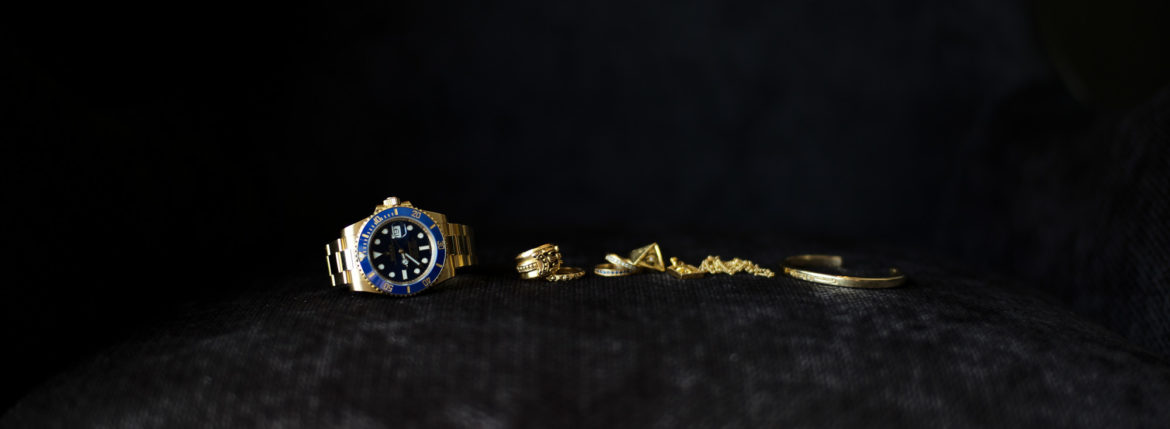 "ROLEX ""SUBMARINER DATE 116618LB"" × CHROME HEARTS ""DAGGER RING 22K"""" × CHROME HEARTS ""True Fucking Punk Ring/Plus Punk 22K"" × Georges de Patricia ""Wraith"" SAPPHIRE DIAMOND × Georges de Patricia ""Wraith"" WHITE DIAMOND × ×FIXER ""ILLUMINATI EYES RING 22K GOLD SP"" × CHROME HEARTS ""22K GOLD FRAMED CH+ PAVE DIAMONDS"" × CHROME HEARTS ""22K GOLD NECK CHAIN TWIST 16"" × Georges de Patricia ""Ghost Solo 18K GOLD""のイメージ"