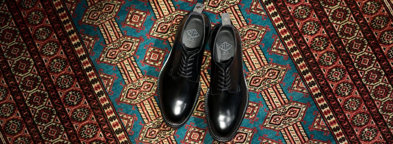 WH (ダブルエイチ) WHS-0010 Plane Toe Shoes (干場氏 スペシャル) Birdie Last (バーディラスト) ANNONAY Vocalou Calf Leather プレーントゥシューズ BLACK (ブラック) MADE IN JAPAN (日本製) 2019 秋冬新作【9月中旬分入荷しました】【フリー分発売開始】のイメージ