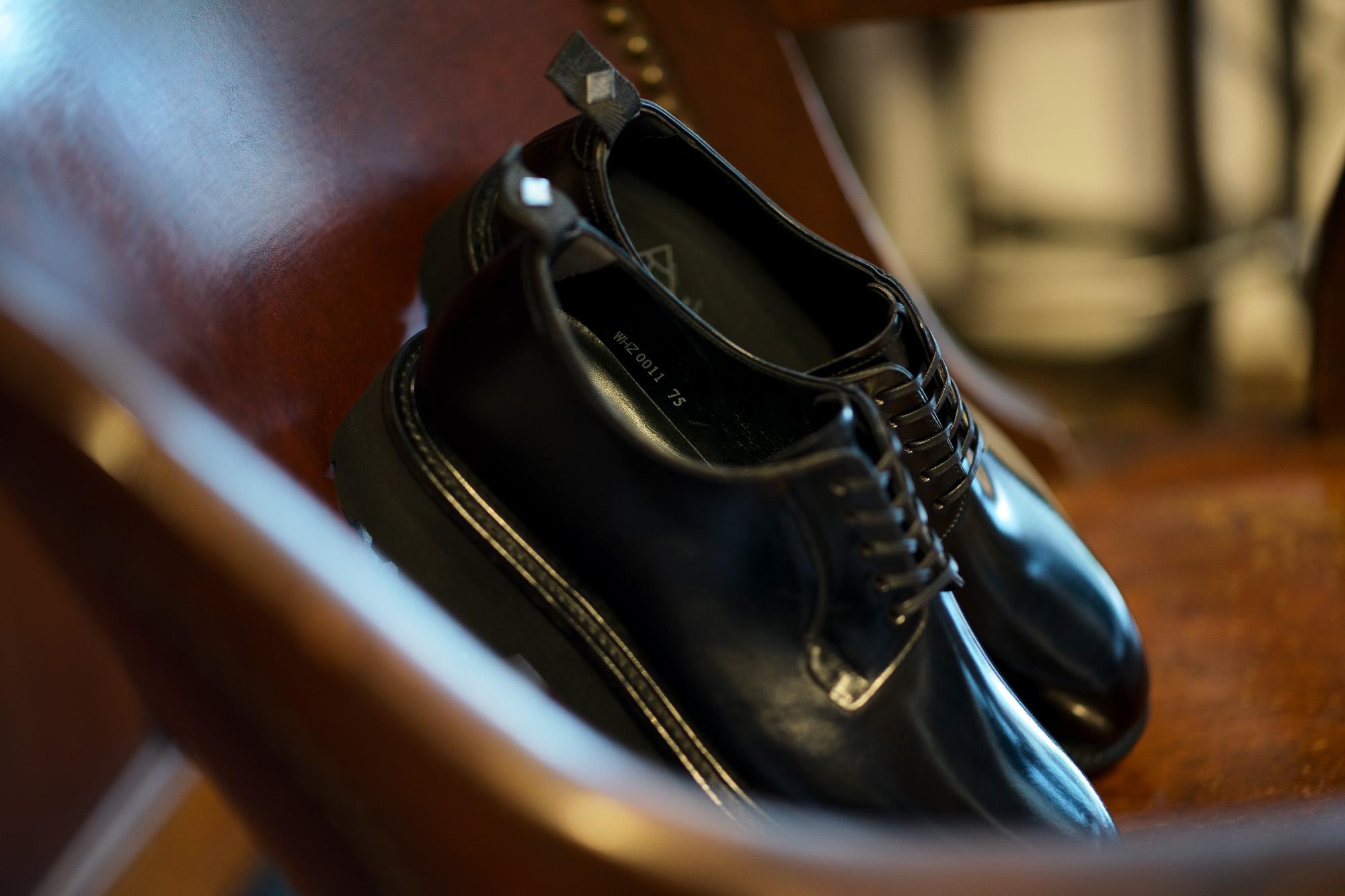 WH (ダブルエイチ) WHZ-0010 Cordovan Plane Toe Shoes (干場氏 スペシャル Zモデル) Birdie Last (バーディラスト) Shell Cordovan シェルコードバンレザー プレーントゥシューズ BLACK (ブラック) MADE IN JAPAN (日本製) 2019 秋冬新作 【Special限定モデル】【第2便入荷】愛知 名古屋 alto e diritto altoediritto アルトエデリット