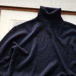 Cuervo(クエルボ) Sartoria Collection (サルトリア コレクション) John (ジョン) 12G WOOL (12ゲージウール) タートルネック セーター NAVY (ネイビー)  MADE IN JAPAN (日本製) 2019 秋冬新作のイメージ