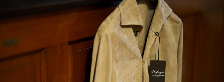 Alfredo Rifugio (アルフレード リフージオ) 20E326HM CAMOSCIO Summer Suede Leather Shirts サマースウェード レザーシャツ BEIGE(ベージュ) made in italy (イタリア製) 2020 春夏 【ご予約開始】 alfredorifujio アルフレードリフージオ 愛知 名古屋 Alto e Diritto アルト エ デリット alto e diritto アルトエデリット レザージャケット 素肌にレザー 42,44,46,48,50,52