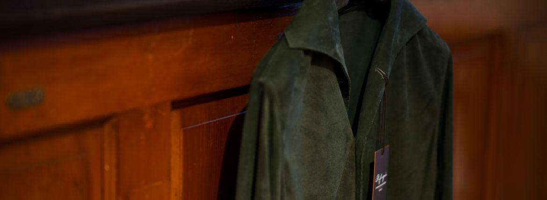 Alfredo Rifugio (アルフレード リフージオ) 20E326HM CAMOSCIO Summer Suede Leather Shirts サマースウェード レザーシャツ OLIVE(オリーブ) made in italy (イタリア製) 2020 春夏 【ご予約開始】のイメージ