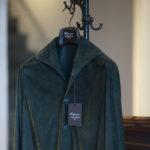 Alfredo Rifugio (アルフレード リフージオ) 20E326HM CAMOSCIO Summer Suede Leather Shirts サマースウェード レザーシャツ OLIVE(オリーブ) made in italy (イタリア製) 2020 春夏 【ご予約受付中】のイメージ