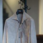 Alfredo Rifugio (アルフレード リフージオ) 20E326HM CAMOSCIO Summer Suede Leather Shirts サマースウェード レザーシャツ BEIGE(ベージュ) made in italy (イタリア製) 2020 春夏 【ご予約受付中】のイメージ
