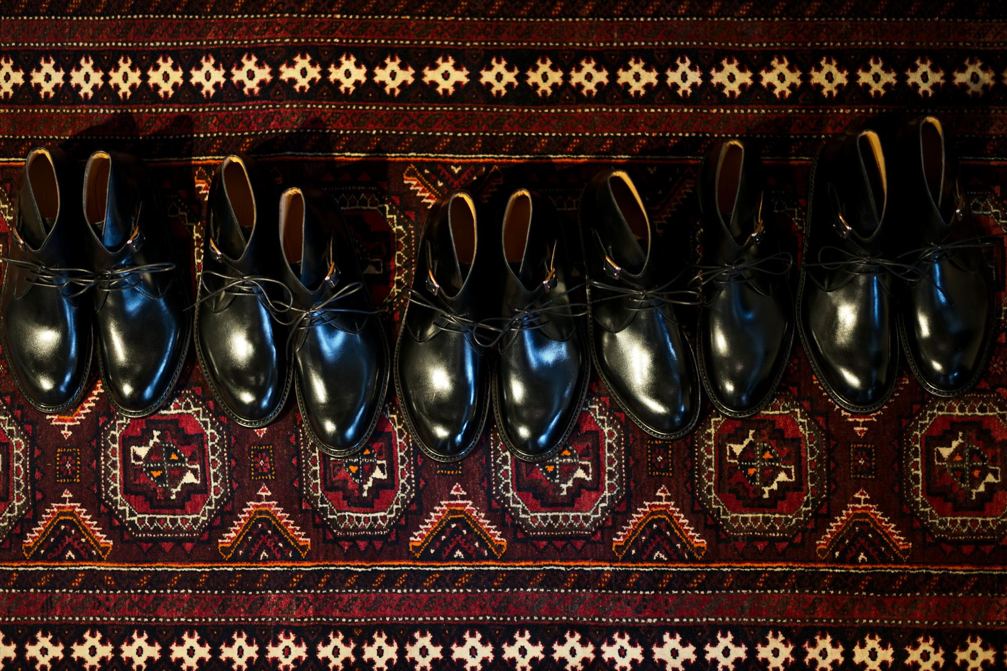 Cuervo (クエルボ) Derringer(デリンジャー) Annonay Vocalou Calf Leather アノネイ社 ボカルーカーフレザー Chukka Boots チャッカブーツ  BLACK(ブラック) MADE IN JAPAN(日本製) 2019 秋冬新作 愛知 名古屋 altoediritto アルトエデリット ブーツ