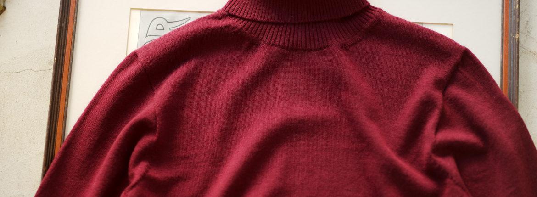 Cuervo(クエルボ) Sartoria Collection (サルトリア コレクション) John (ジョン) 12G WOOL (12ゲージウール) タートルネック セーター BORDEAUX (ボルドー) MADE IN JAPAN (日本製) 2019 秋冬新作のイメージ