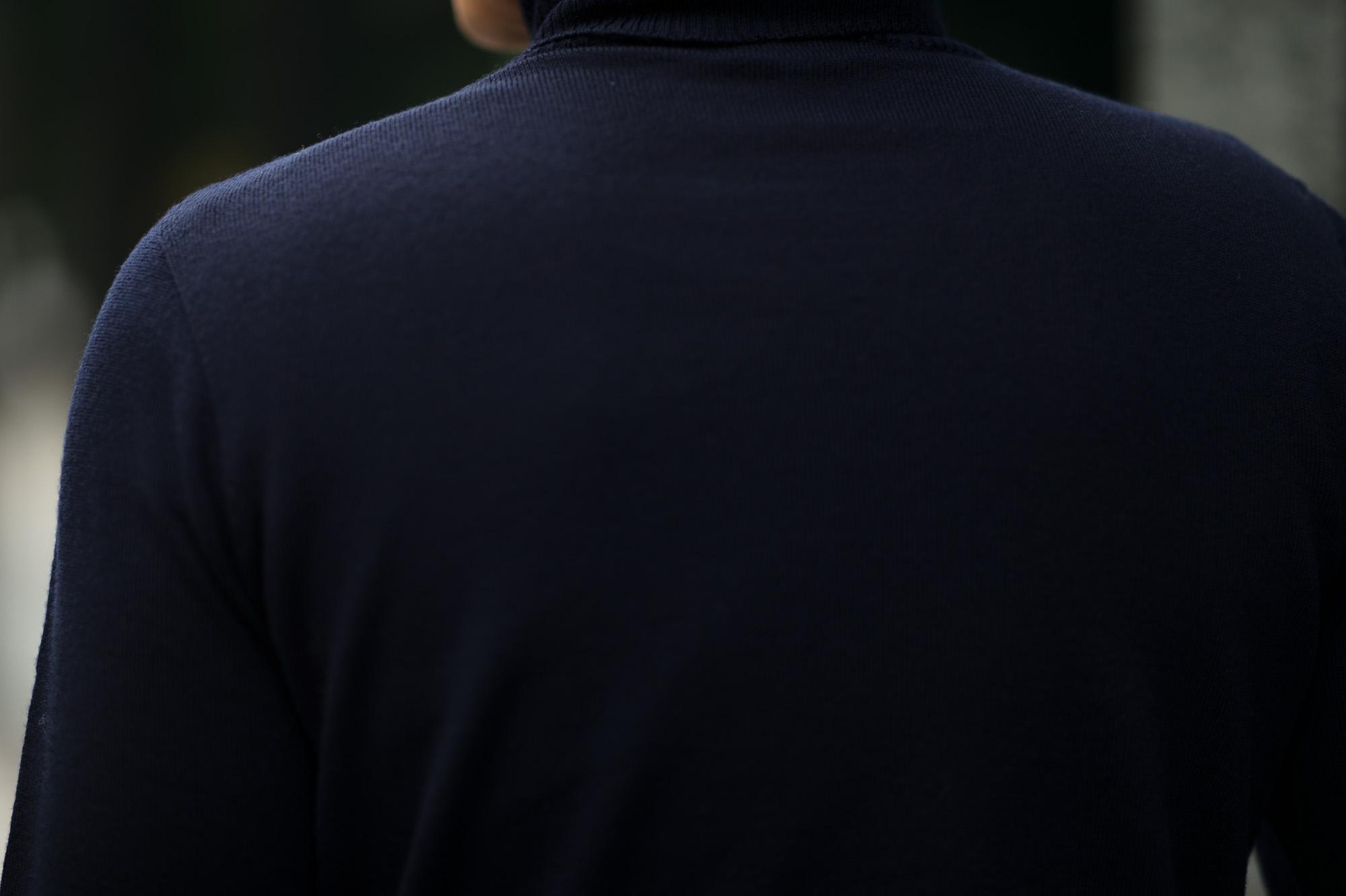 Cuervo(クエルボ) Sartoria Collection (サルトリア コレクション) John (ジョン) 12G WOOL (12ゲージウール) タートルネック セーター NAVY (ネイビー)  MADE IN JAPAN (日本製) 2019 秋冬新作 愛知 名古屋 altoediritto アルトエデリット