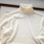 Cuervo(クエルボ) Sartoria Collection (サルトリア コレクション) John (ジョン) 12G WOOL (12ゲージウール) タートルネック セーター WHITE (ホワイト) MADE IN JAPAN (日本製) 2019 秋冬新作のイメージ