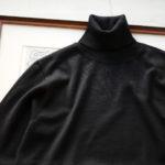 Cuervo (クエルボ) Sartoria Collection (サルトリア コレクション) John (ジョン) 12G WOOL (12ゲージウール) タートルネック セーター BLACK (ブラック) MADE IN JAPAN (日本製) 2019 秋冬新作のイメージ