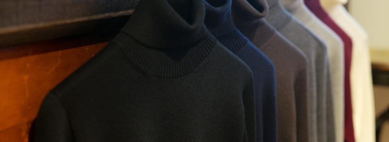 Cuervo (クエルボ) Sartoria Collection (サルトリア コレクション) John(ジョン) Turtle Neck Sweater (タートルネックセーター) ウールニット セーター BLACK (ブラック),NAVY(ネイビー),BROWN(ブラウン),CHARCOAL(チャコール),GRAY(グレー),BORDEAUX (ボルドー),WHITE(ホワイト)  MADE IN JAPAN (日本製) 2019 秋冬新作  【入荷しました】【フリー分発売開始】のイメージ
