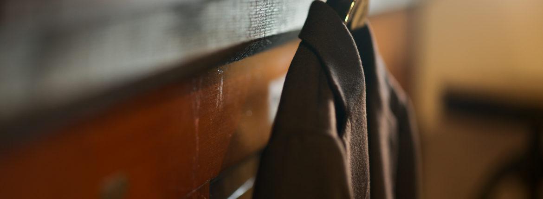 Cuervo (クエルボ) Sartoria Collection (サルトリア コレクション) Lobb (ロブ) Cashmere カシミア 3B ジャケット BROWN (ブラウン) MADE IN JAPAN (日本製) 2019 秋冬 【ご予約受付中】のイメージ