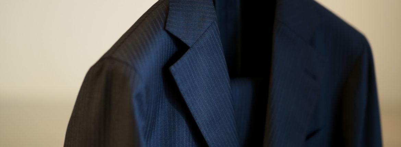 cuervo bopoha(クエルボ ヴァローナ) Sartoria Collection (サルトリア コレクション) Rooster (ルースター) Ermenegildo Zegna エルメネジルド・ゼニア シャドーストライプ スーツ DARK NAVY (ダークネイビー) MADE IN JAPAN (日本製) 2019 【ご予約開始】のイメージ