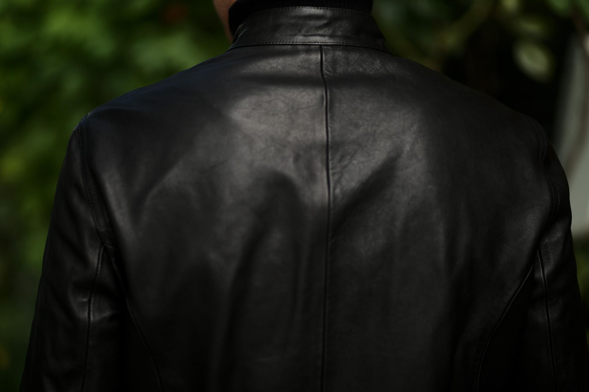 EMMETI(エンメティ) H UOMO(アッカ ウオモ) 干場義雅氏 コラボモデル Lambskin Nappa Leather 0.9mm ラムナッパレザー 0.9mm シングルライダース NERO(ブラック) 2019秋冬 【Special Model】愛知 名古屋 altoediritto アルトエデリット yoshimasahoshiba