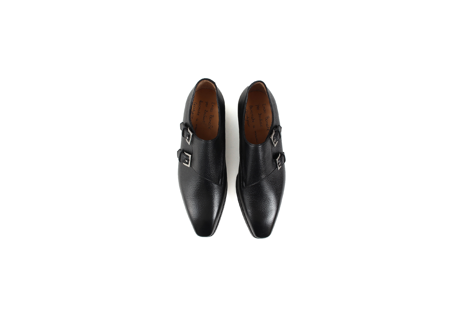 ENZO BONAFE(エンツォボナフェ) EB-36 Double Monk Strap Shoes INCA Leather ダブルモンクストラップシューズ NERO (ブラック) made in italy (イタリア製) 2020  enzobonafe eb36 エンツォボナフェ altoediritto アルトエデリット