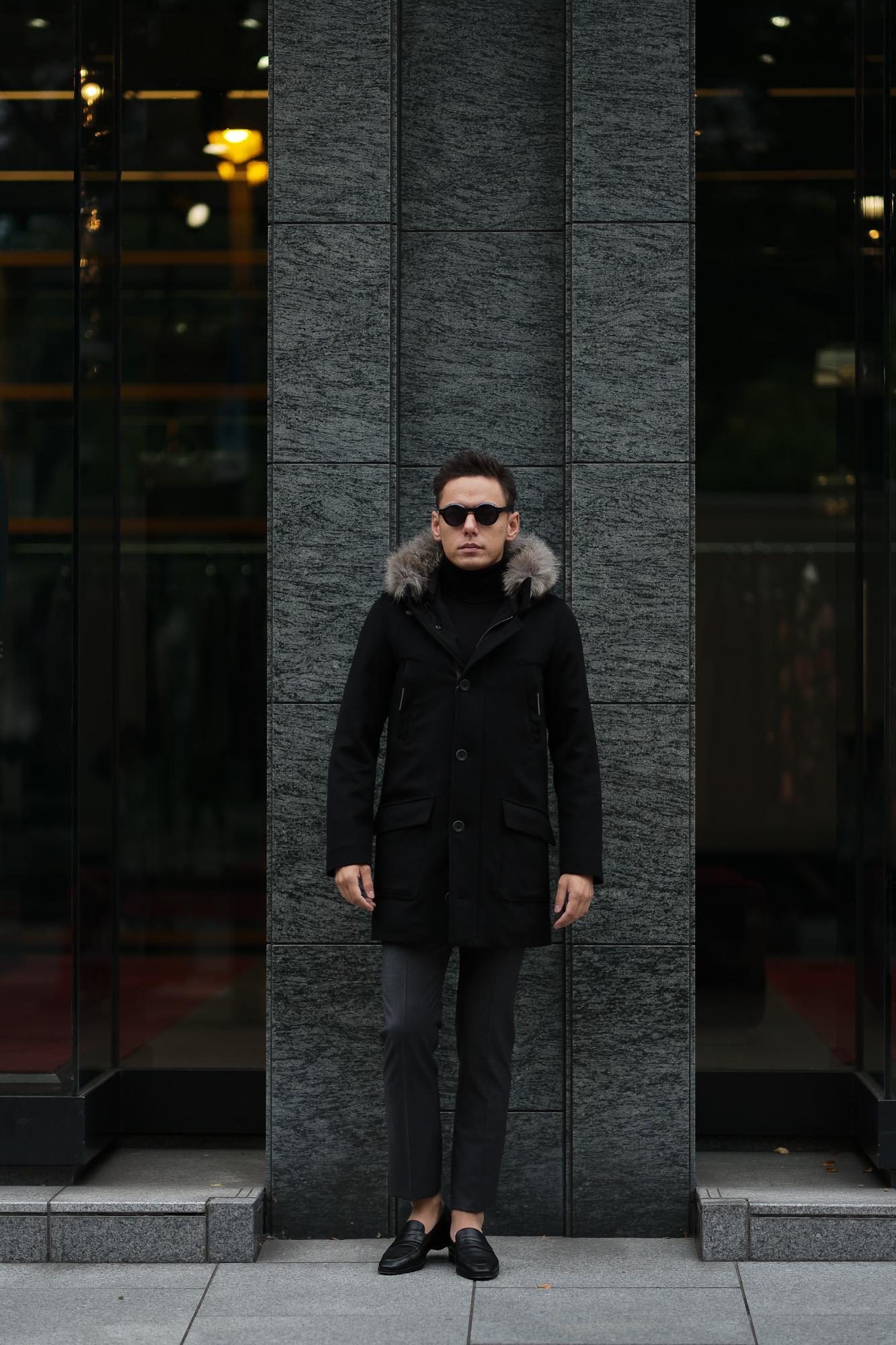 HERNO(ヘルノ) N-3B Cashmere coat (カシミア コート) LUIGI COLOMBO (ルイージ・コロンボ) 撥水 カシミア ロング コート BLACK (ブラック・9300) Made in italy (イタリア製) 2019 秋冬新作 altoediritto アルトエデリット 愛知 名古屋