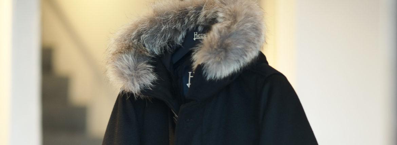 HERNO(ヘルノ) N-3B Cashmere coat (カシミア コート) LUIGI COLOMBO (ルイージ・コロンボ) 撥水 カシミア ロング コート BLACK (ブラック・9300) Made in italy (イタリア製) 2019 秋冬新作 【入荷しました】【フリー分発売開始】のイメージ