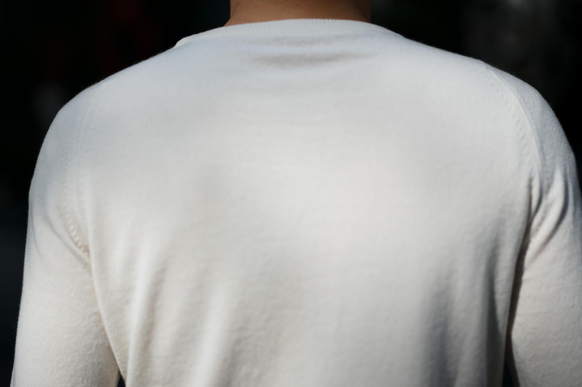 lucien pellat-finet (ルシアン ペラフィネ) Skull Tongue Cashmere Sweater (スカル タン カシミア セーター) インターシャ カシミア スカル セーター NIVEOUS × BLACK (ホワイト × ブラック) made in scotland (スコットランド製) 2019 秋冬新作 愛知 名古屋 altoediritto アルトエデリット