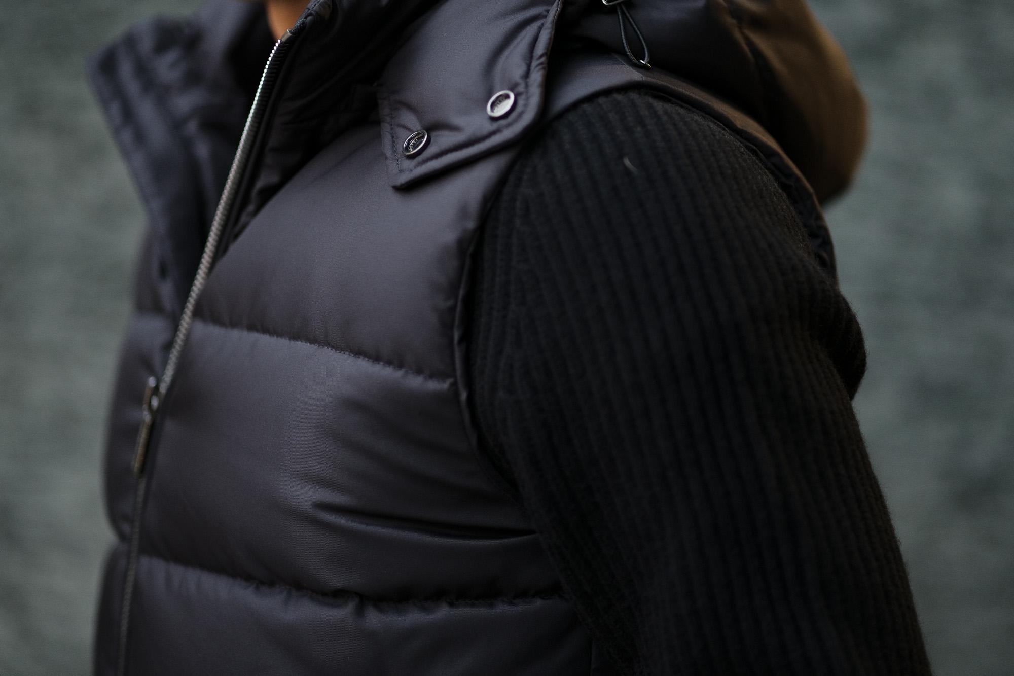 MOORER (ムーレー) FAYER-WK2 (フェイヤー) ナイロン ダウン ベスト NERO(ブラック) Made in italy (イタリア製) 2019 秋冬新作 愛知 名古屋 altoediritto アルトエデリット ダウンジャケット