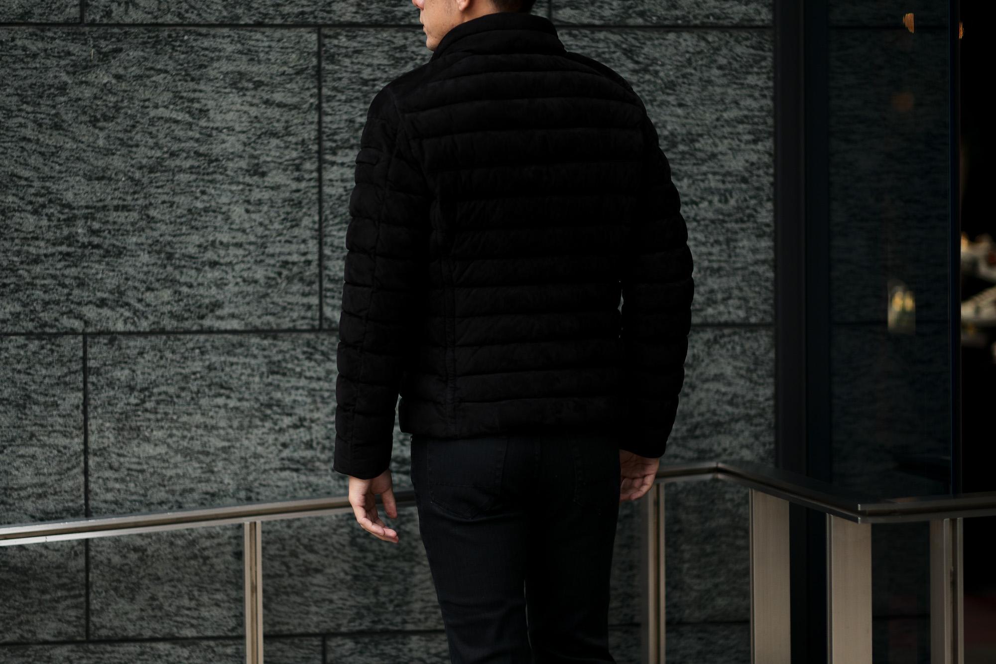 MOORER (ムーレー) RAY-UR (レイ) スエードレザー ダウン ジャケット NERO(ブラック)  Made in italy (イタリア製) 2019 秋冬新作 愛知 名古屋 altoediritto アルトエデリット ダウンジャケット