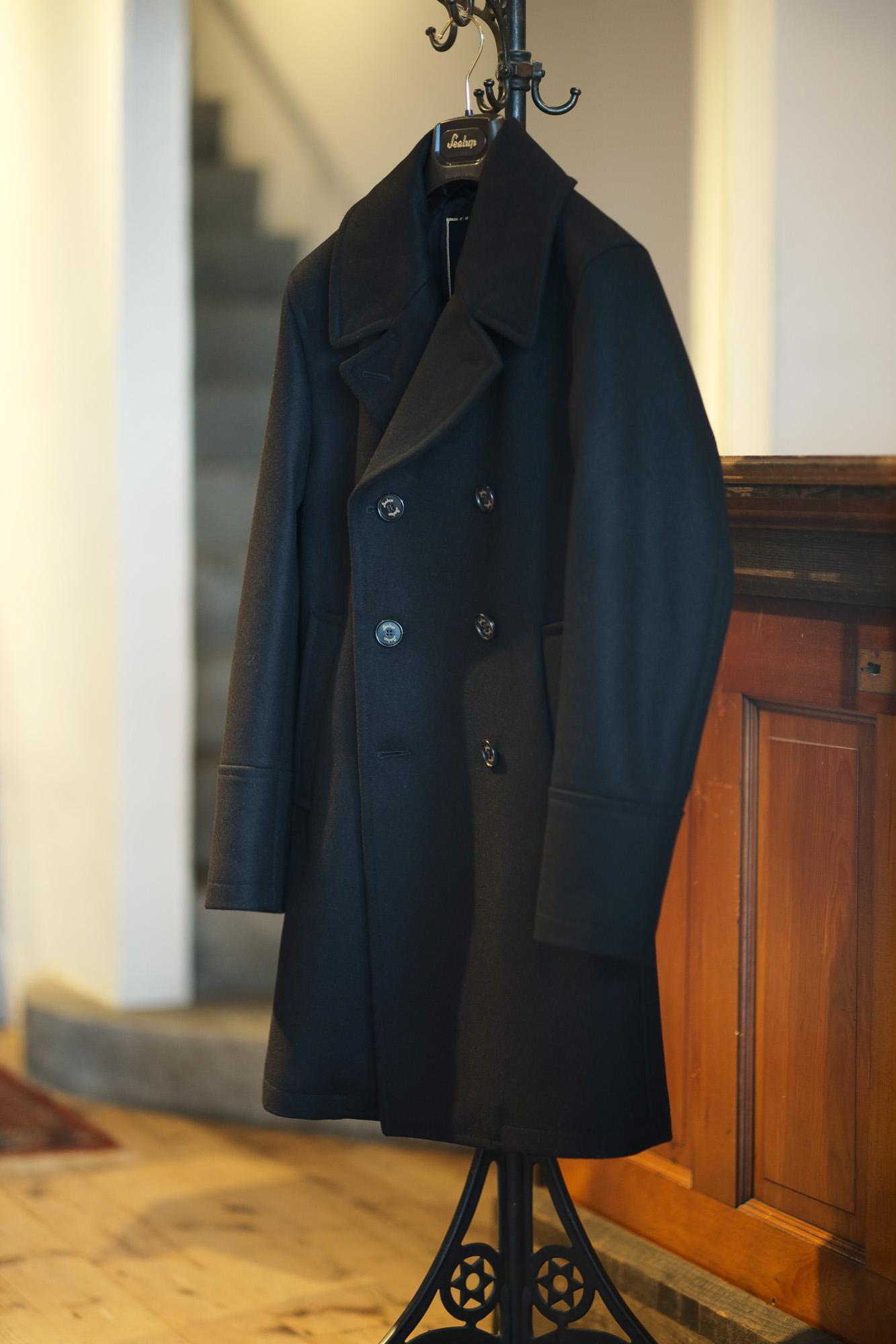 Sealup(シーラップ) GENOVA(ジェノバ) 50002 7591 01 メルトンウール サーモアライニング ロングPコート  BLACK (ブラック・36) MADE IN ITALY(イタリア製) 2019 秋冬新作 【入荷しました】【フリー分発売開始】シーラップ 愛知 名古屋 Alto e Diritto アルト エ デリット Pコート コート coat